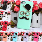 Chaplin Dumb 3D Man Gentleman Mustache Hard Case Cover For Apple iphone 5 5S 5G