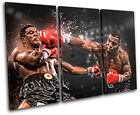 Boxing Mike Tyson Sports TREBLE CANVAS WALL ART Picture Print VA