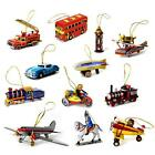 TIN TOY CHRISTMAS TREE ORNAMENT Choice of 12 Designs Retro Metal Collectible NEW