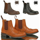 MENS FORMAL CASUAL SLIP ON LEATHER BROGUE CHELSEA DEALER ANKLE BOOTS SHEOS SIZE
