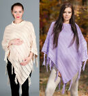Maternity / Pregnancy Knit Crochet Poncho Shawl Jumper Pullover  Sweater