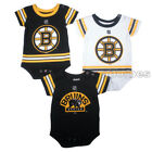 Boston Bruins Infant Baby Team Jersey 3-Piece Creeper Romper Bodysuit Gift Set