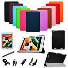 For Acer Iconia A1-830 Tablet Stand PU Leather Slim Shell Cover Case Bundle