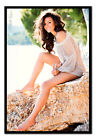 Framed Michelle Keegan Sexy Smile Sitting On A Rock Official Poster New