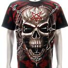 r177 Sz M L XL Rock Eagle T-shirt SPECIAL Tattoo Skull Bloody Demon Men Fashion