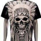 r176 Sz M L XL Rock Eagle T-shirt Tattoo SPECIAL Skull Indian Tribe Streetwear
