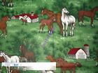 Horses horse cotton quilting fabric - *Choose design & size