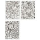BMC Cute 3pc Large Ultra Thin Floral Lace Nail Polish Art Sticker Sheet Set