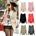 Fashion Knitted Cardigan Batwing Outwear Lady Casual Loose Sweater Coat Wool Top