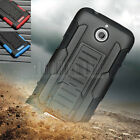 Rugged Armor Hybrid Case Hard Kickstand Cover Impact Holster For HTC Desire 510