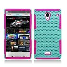 Sharp Aquos Crystal MESH Hybrid Silicone Rubber Skin Case Cover + Screen Guard
