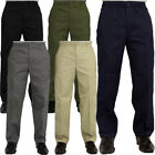 Mens New Elasticated Waist Casual Rugby Trousers Smart Work Pants Size