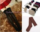 Fashion Women Knit Cotton Over Knee Thigh Stockings Pantyhose Tight-Highs Socks