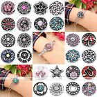 1/10pc Alloy Crystal Bead Snap Button For Charms Bracelet Bangle Craft DIY
