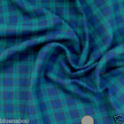 "Black Watch Brushed 100 % cotton tartan fabric per fq / half metre 58 ""wide"
