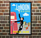 Pan Am London Vintage Airline Travel Poster 6 sizes matte+glossy avail