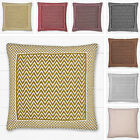 K Living Flamestitch Zig Zag Chevron Chenille 45cm Square Scatter Cushion Cover