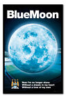 Manchester City FC Blue Moon 2015 Magnetic Notice Board Includes Magnets