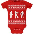 Zombie Ugly Christmas Sweater Red Soft Newborn Infant One Piece Onesie
