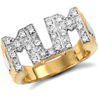 Jewelco London 9ct Solid Gold CZ set Mum Ring