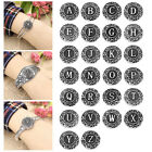 "1PC Snap Button Letter Alphabet Carve ""A-Z"" Fit Snap Bracelet Branch 18.5mm"