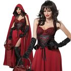 Adult Dark Little Red Riding Hood Halloween Costume Storybook Dress Party Outfit