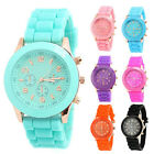 Cool Unisex Womens Mens Geneva Silicone Jelly Casaul Sports Quartz Wrist Watch M