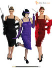 Ladies 1920s Flapper Costume + Holder+ Gloves Womens 20's Charleston Fancy Dress