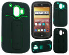 For AT&T ZTE Compel Z830 Rubber Hybrid HARD Case Cover with Snap Tail STAND