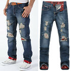 CHEAP ! Men Boy Friend Style Ripped Street Casual Jeans Slim Straight Jean Pants