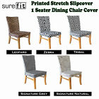 Printed Stretch Dining Chair Cover -  Choose Your Design by Surefit