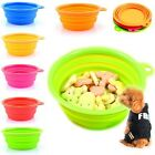 Portable Collapsible Dog Cat Pet Silicone Travel Feeding Bowl Water Dish Feeder