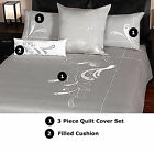 WHITE PEACOCK Quilt Cover Set - 350 TC Cotton -   QUEEN, KING, CUSHION