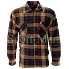 Mens Sherpa Fleece Lined Check Plaid Collared Lumberjack Work Jacket Size