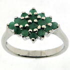 .925 Sterling Silver 0.8 Ct Emerald Ring