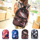 Fashion Unisex School bag Rucksack Travel Backpack Canvas Leisure Bags Galaxy