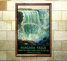 Travel by Train Niagra Falls Railroad Travel Poster [6 sizes matte+glossy avail]