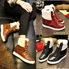 Fashion Elegant Womens Shoes Ankle Boots Mary Jane Hidden Wedge Lace Up US4.5-8