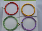 6 FEET FLORAL WIRE COLORED ALUMINUM CRAFT GOLD GREEN RED PURPLE 12 GAUGE