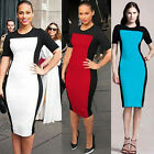 Sexy Women Short Sleeve Stretchy Pencil Dress Bodycon Wrap Party Cocktail Dress