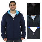 Moda Essentials Men's Sherpa Lined Zip Up Hoodie Sweatshirt