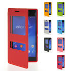 Slim Fit Flip Leather Pouch TPU Shell Case Cover For Sony Xperia M2