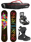 Lamar MERLOT 144cm Snowboard+Salomon Bindings+Flow Vega BOA Boots + BAG NEW