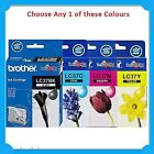 Any 1x Brother Genuine LC37 BK/C/M/Y Ink Cartridge-  DCP-135C/DCP-150C/DCP-235C