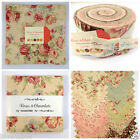 MODA Chocolate & roses 100 % cotton jelly roll layer cake charm pack