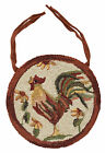 """Rooster Hooked Chair Pad by Park Designs, Country Motif, 14.5"""" Diameter, Choice"""