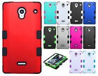 For Sharp Aquos Crystal IMPACT TUFF HYBRID Hard Case Phone Cover + Screen Guard