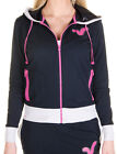 New Womens Designer Voi Jeans Ladies Hoody Laila Sweat Navy