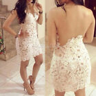 New Women's Sexy Backless Strapless Lace Club Party Cocktail Bodycon Mini Dress