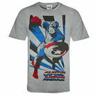 Marvel Comics Official Gift Mens T-Shirt Iron Man Captain America (RRP £14.99!)